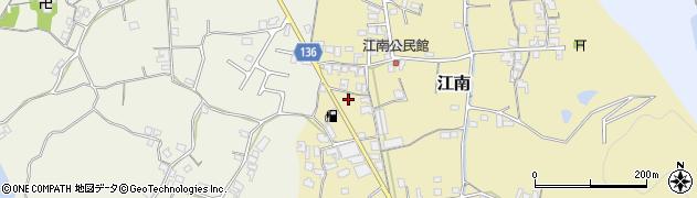 和歌山県和歌山市江南周辺の地図