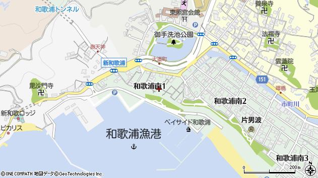 〒641-0022 和歌山県和歌山市和歌浦南の地図