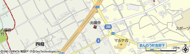 光隆寺周辺の地図