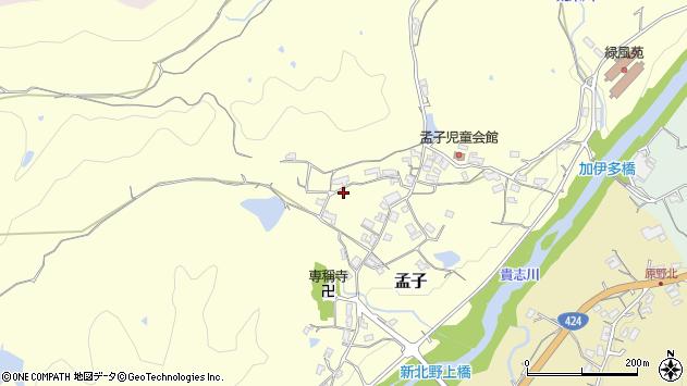 〒640-0452 和歌山県海南市孟子の地図