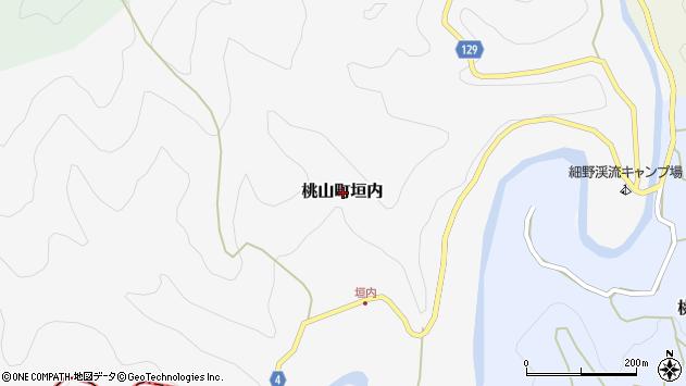 〒640-1333 和歌山県紀の川市桃山町垣内の地図