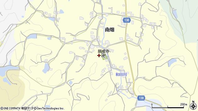 〒640-0315 和歌山県和歌山市南畑の地図