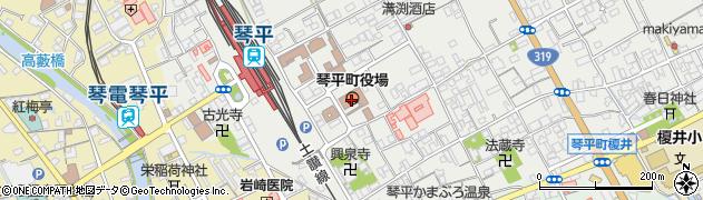 香川県仲多度郡琴平町周辺の地図
