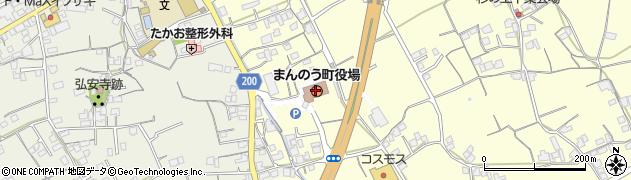 香川県仲多度郡まんのう町周辺の地図