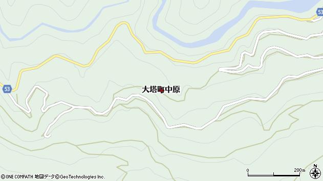 〒637-0415 奈良県五條市大塔町中原の地図