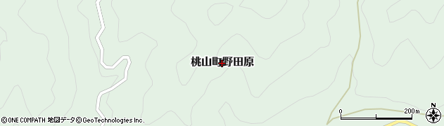 和歌山県紀の川市桃山町野田原周辺の地図