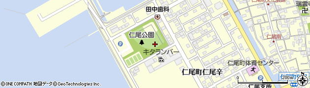 香川県三豊市仁尾町仁尾辛周辺の地図