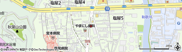 和歌山県和歌山市塩屋周辺の地図