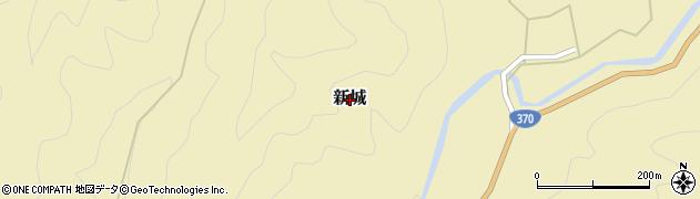 和歌山県かつらぎ町(伊都郡)新城周辺の地図