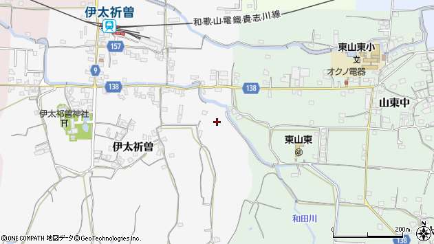 〒640-0361 和歌山県和歌山市伊太祈曽の地図