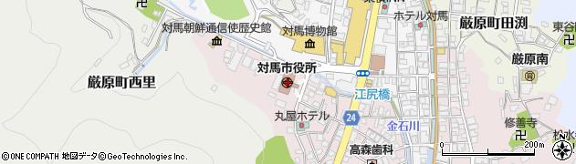 長崎県対馬市周辺の地図