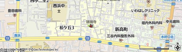 瑞林寺周辺の地図
