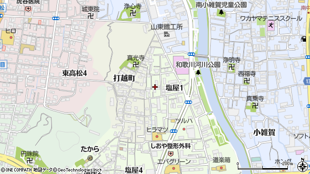〒641-0054 和歌山県和歌山市塩屋の地図