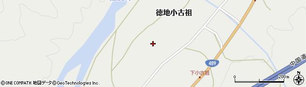 山口県山口市徳地小古祖市周辺の地図