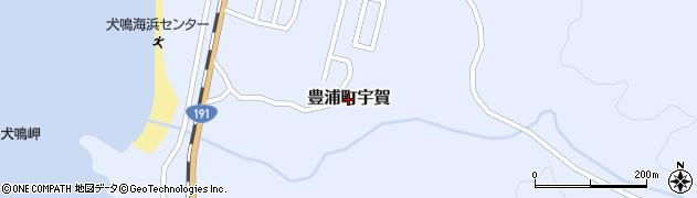 山口県下関市豊浦町大字宇賀周辺の地図