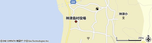 東京都神津島村周辺の地図