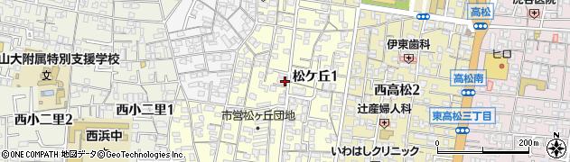 和歌山県和歌山市松ケ丘周辺の地図
