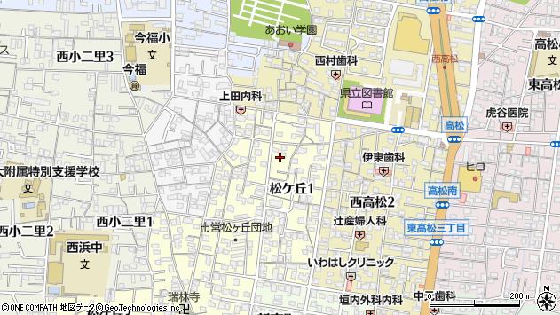 〒641-0033 和歌山県和歌山市松ケ丘の地図