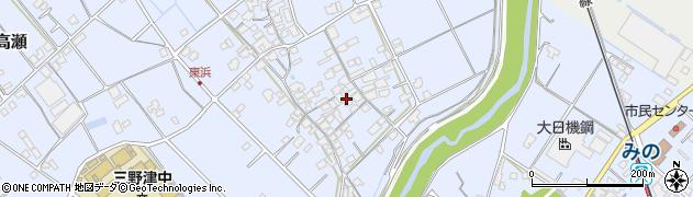 香川県三豊市三野町下高瀬周辺の地図