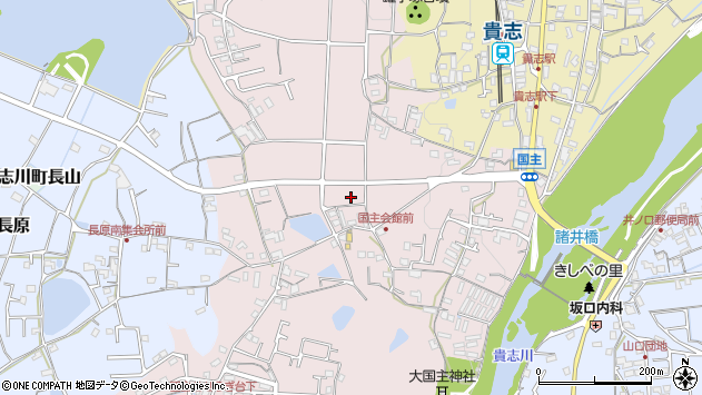 〒640-0414 和歌山県紀の川市貴志川町国主の地図