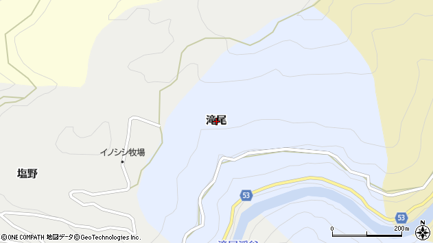 〒638-0562 奈良県吉野郡天川村滝尾の地図