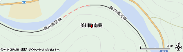山口県岩国市美川町南桑周辺の地図