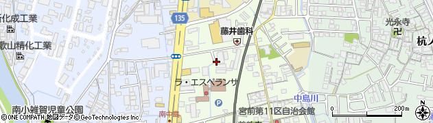 和歌山県和歌山市中島周辺の地図