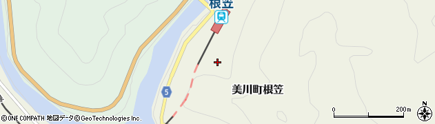 山口県岩国市美川町根笠周辺の地図