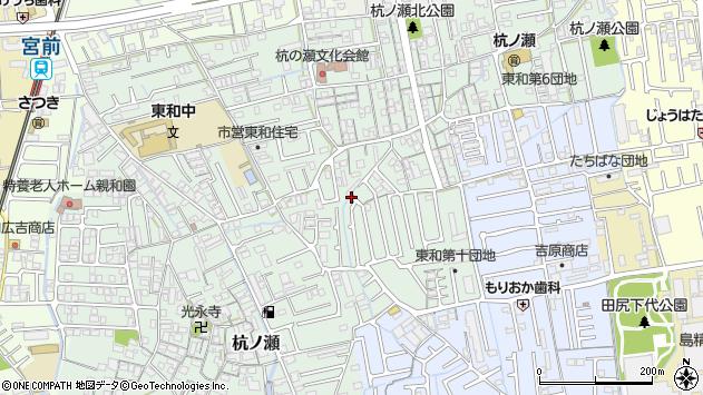 〒641-0001 和歌山県和歌山市杭ノ瀬の地図