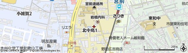 和歌山県和歌山市北中島周辺の地図