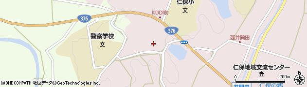 山口県山口市仁保中郷高野東周辺の地図