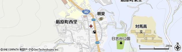 長崎県対馬市厳原町宮谷周辺の地図