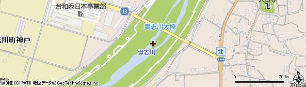 貴志川大橋周辺の地図