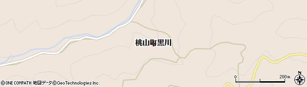 和歌山県紀の川市桃山町黒川周辺の地図
