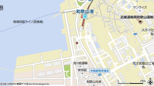 〒640-8404 和歌山県和歌山市湊の地図