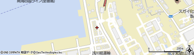 和歌山県和歌山市湊周辺の地図