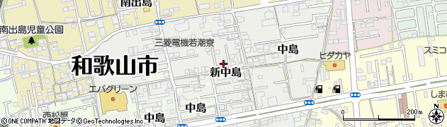 和歌山県和歌山市新中島周辺の地図