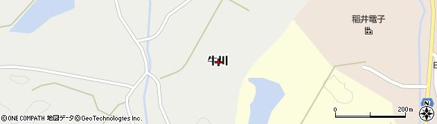 香川県綾歌郡綾川町牛川周辺の地図