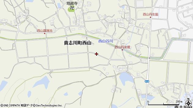 〒640-0406 和歌山県紀の川市貴志川町西山の地図