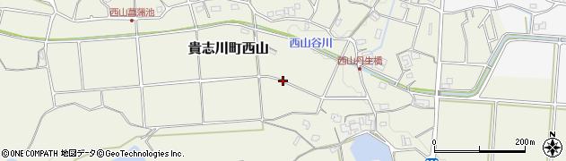 和歌山県紀の川市貴志川町西山周辺の地図