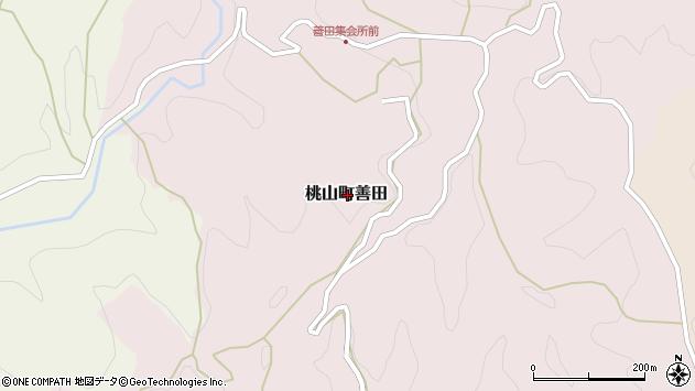 〒649-6101 和歌山県紀の川市桃山町善田の地図
