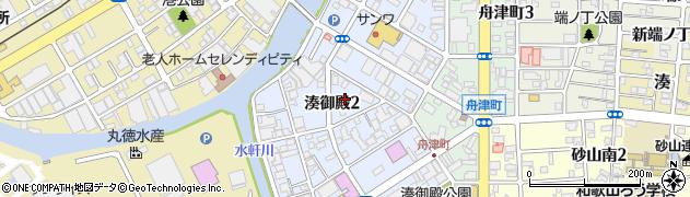 和歌山県和歌山市湊御殿周辺の地図
