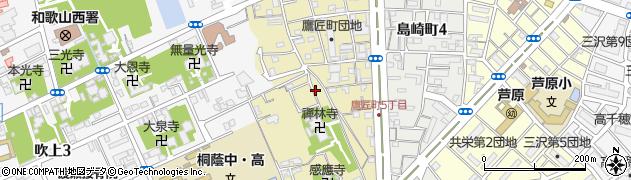 和歌山県和歌山市鷹匠町周辺の地図