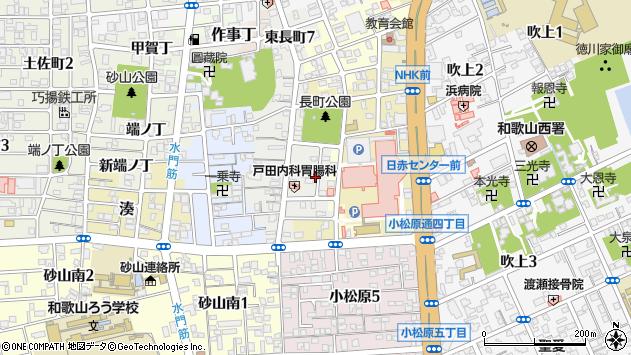 〒640-8266 和歌山県和歌山市東長町中ノ丁の地図