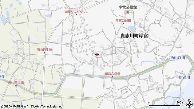 〒640-0405 和歌山県紀の川市貴志川町岸宮の地図