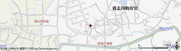 和歌山県紀の川市貴志川町岸宮周辺の地図