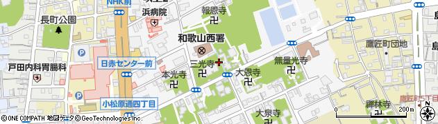 和歌山県和歌山市吹上周辺の地図