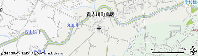 和歌山県紀の川市貴志川町鳥居周辺の地図