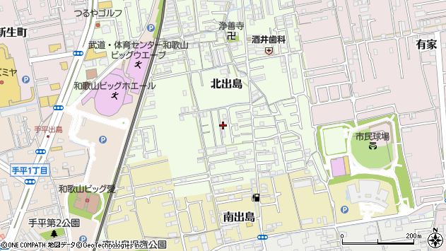 〒640-8317 和歌山県和歌山市北出島の地図