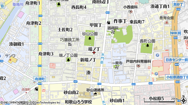 〒640-8284 和歌山県和歌山市出口端ノ丁の地図